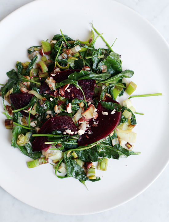 Warm Beet Salad with Hazelnuts @jewelsofny