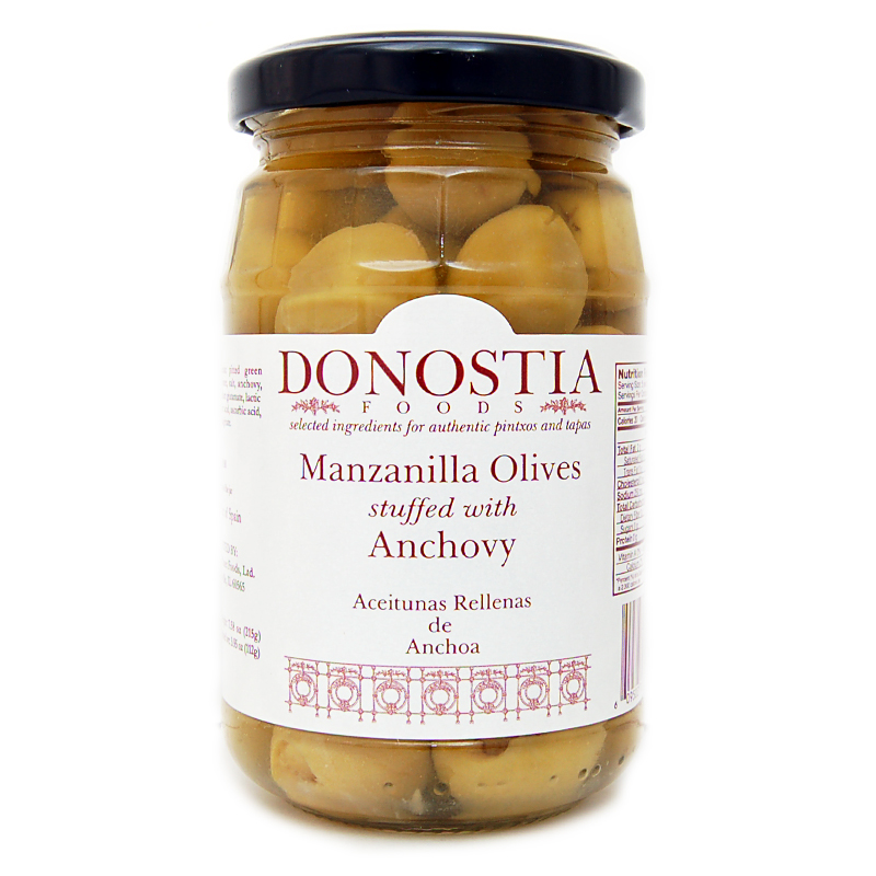 Donostia Foods Manzanilla Olives Stuffed with Anchovy
