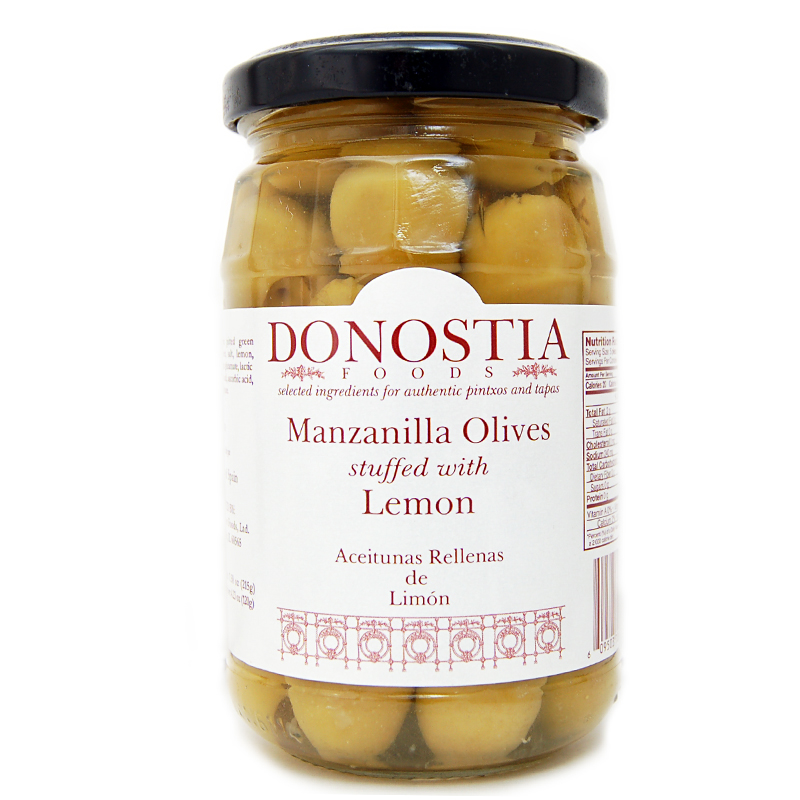 Donostia Foods Manzanilla Olives stuffed with Lemon