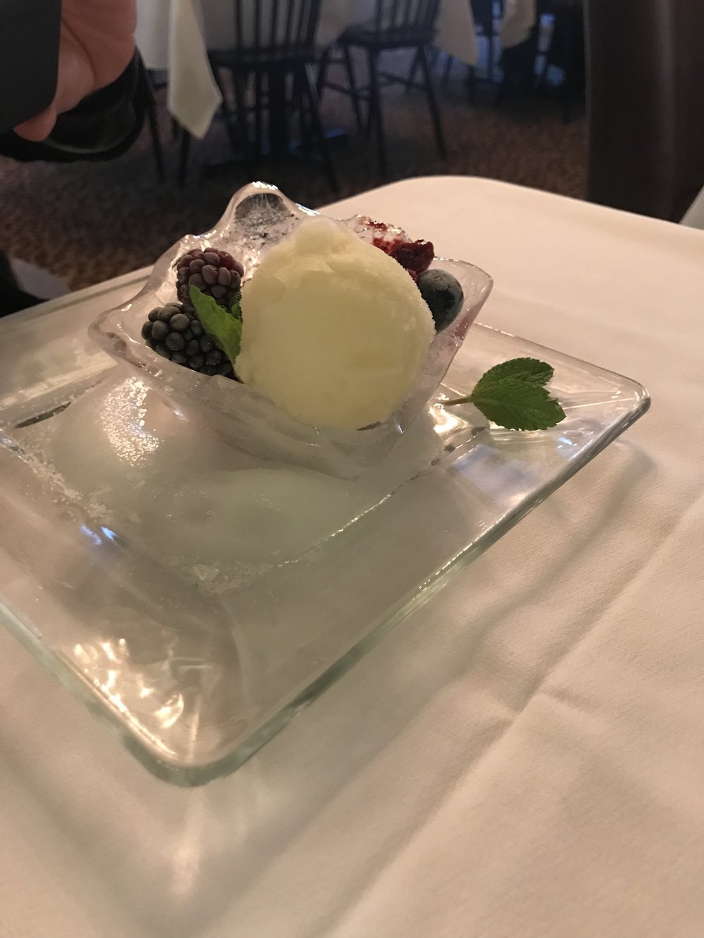 Salty dessert.