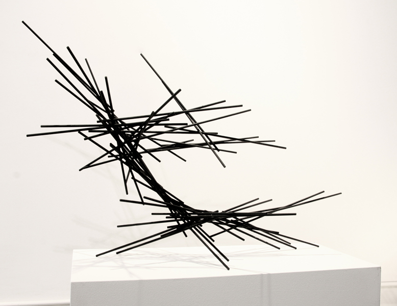 LA BREA, 2011, steel with tar, 29H x 40W x 21D