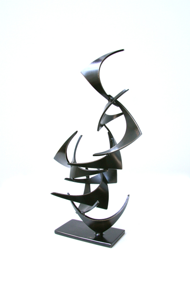 MINI MOLLIE, 2012, steel with patina, 12H X 5W X 4D