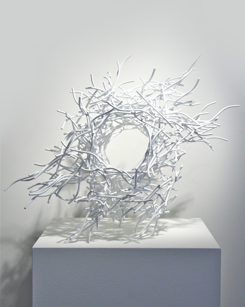 MR PIDDINGTON, 2012, steel with powdercoat, 21H X 27W X 18D