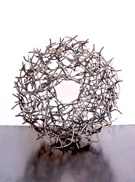 PAST LIGHT, 2013, steel, 18H X 18W X 8D