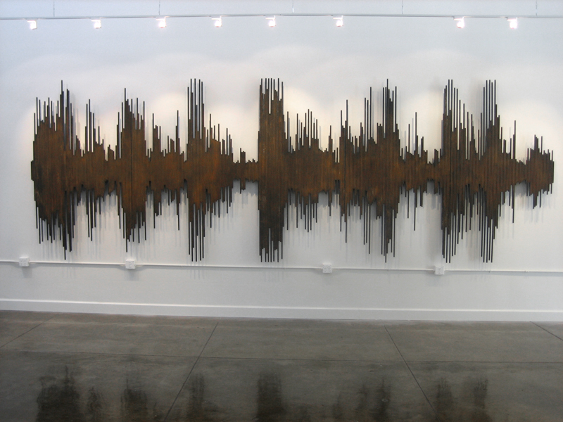 "Copy of 357 5/8"" STEEL RODS, 2008, 252W x 84H x 5D"