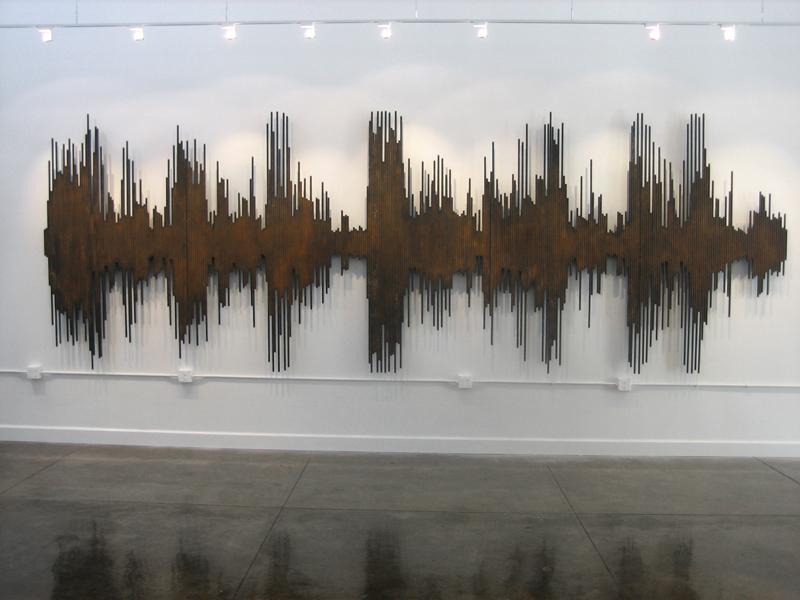 """357 5/8"""" STEEL RODS, 2008, 252W x 84H x 5D"""