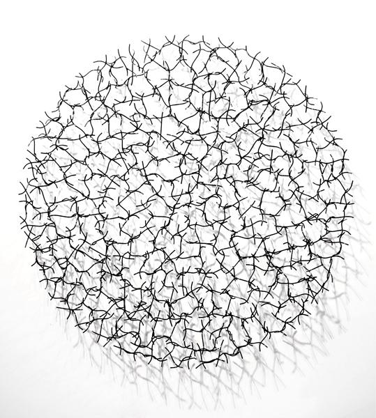 CHLOE DANCER, 2013, STEEL WITH POWDER COAT, 60 DIAM x 6D