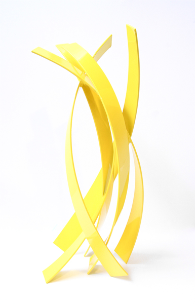 MELLOW YELLOW, 2013, steel with powdercoat, 36H x 14W x 14D