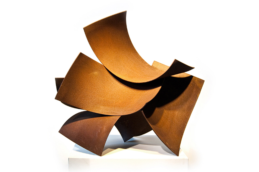 WALK THROUGH, 2009, corten steel, 24H x 28W x 16D