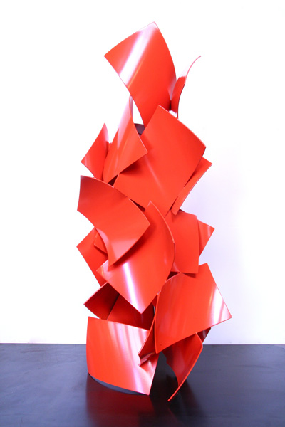 NICHOL E, 2012, steel with powdercoat, 48H x 24W x 20D