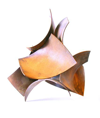 Thoroughfare, 2012, steel with patina, 20H x 19W x 16D