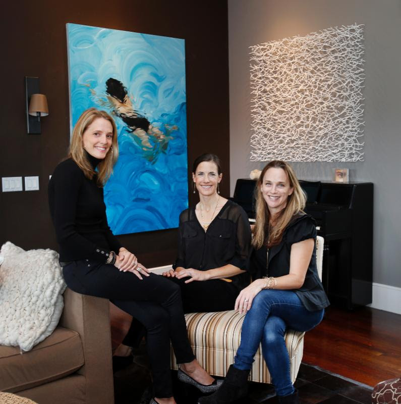 Eve Simon, Svea Lin Soll and Stephanie Breitbard (with Matt Devine art in the background!)