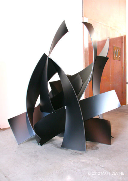 TWO TEN ONE, 2012, aluminum with powdercoat, 80H x 75W x 48D