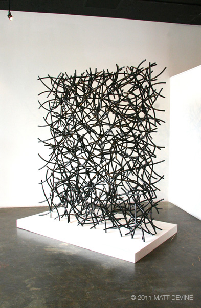 THE COLONY, 2011, steel with powdercoat, 84H x 60W x 24D