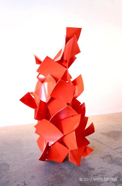 MAIN SQUEEZE, 2012, aluminum with powdercoat, 90H x 54W x 48D