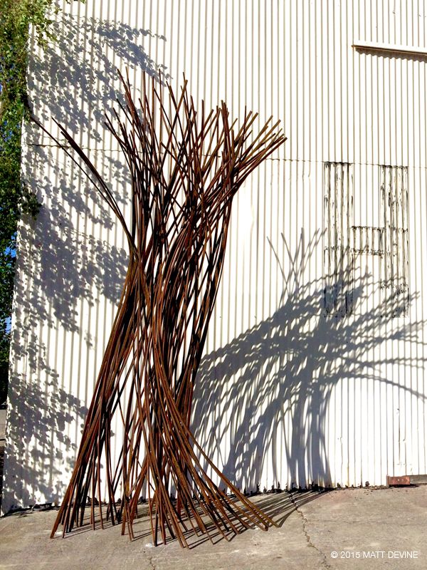 THE GATHERING, 142H X 80W X 80D, CORTEN steel