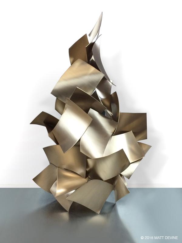 MAIN SQUEEZE #2, 2015, bronze, 54H x 40w x 20D