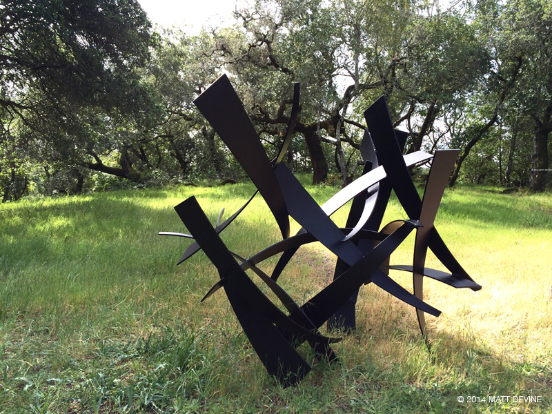 ONE MORE TIME, 2014, 74H x 84W x 57D, aluminum with powdercoat
