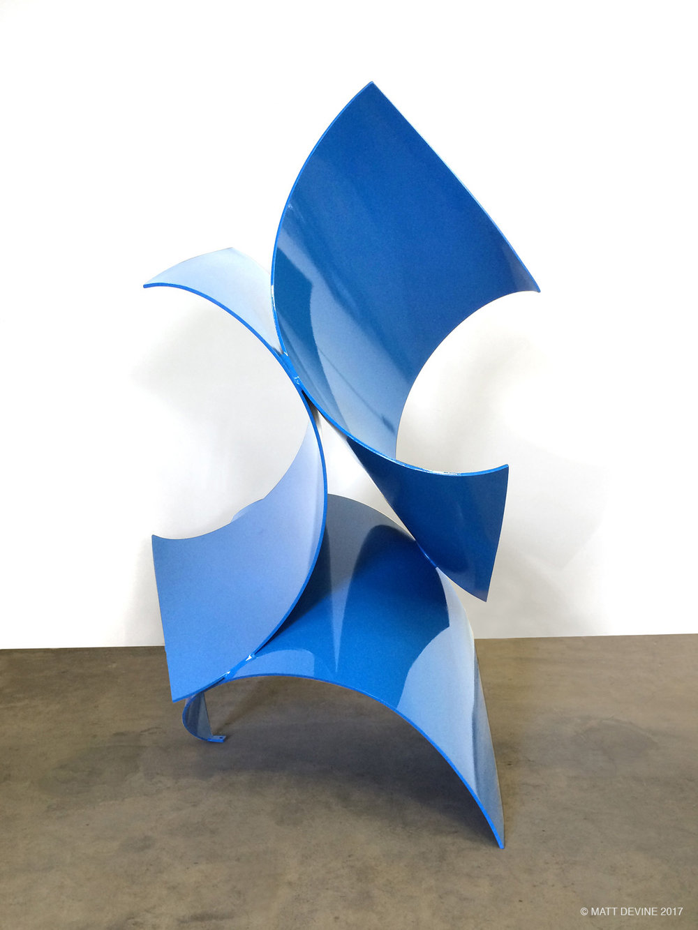 THREE OF A KIND MINI, 2015, steel with powdercoat, 16H x 10W x 6D