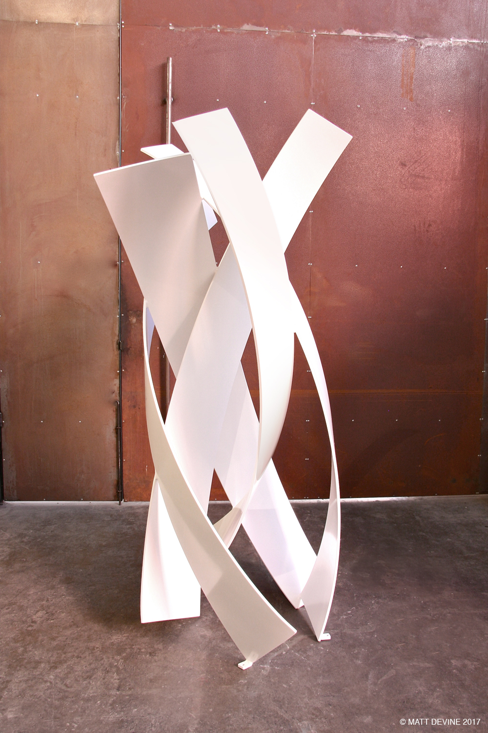 BEGINNING TO SEE THE LIGHT, 2014 aluminum with powdercoat, 80H x 46W x 38D