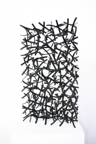 QUELEAS #2, 2011, steel with black powdercoat, 32H x 18W x 6D