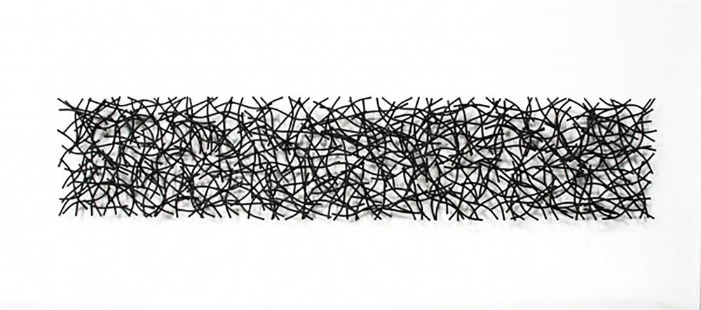 TRIAL #8, 2010, 12H x 60W x 3D, steel with black powdercoat