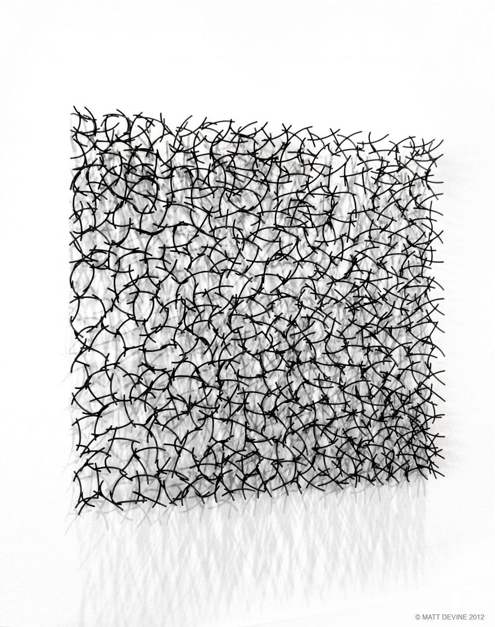 BRIAR #2, 2012, steel with patina, 60H x 64W x 6D