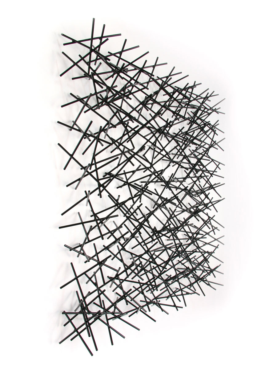 LA LUZ #6, 2014, steel with black powdercoat, 32H x 32 W x 6D
