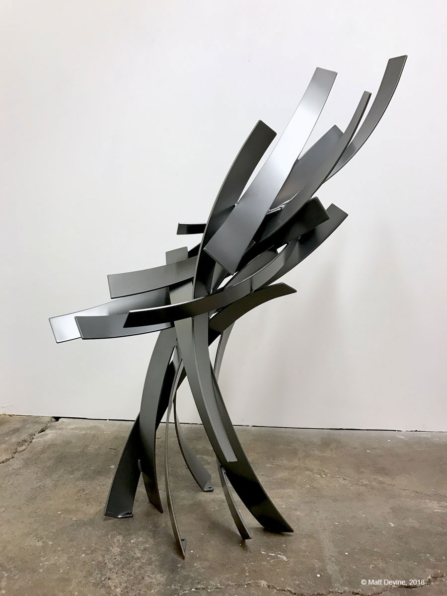 PASSING BY #2, 2018, aluminum with powder coat, 60 x 44 x 30 in.