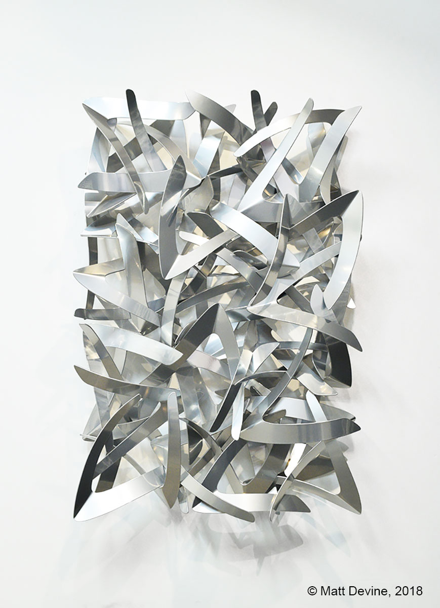 MIRROR, MIRROR, 2018, aluminum with chrome powder coat, 48 x 32 x 8 in.