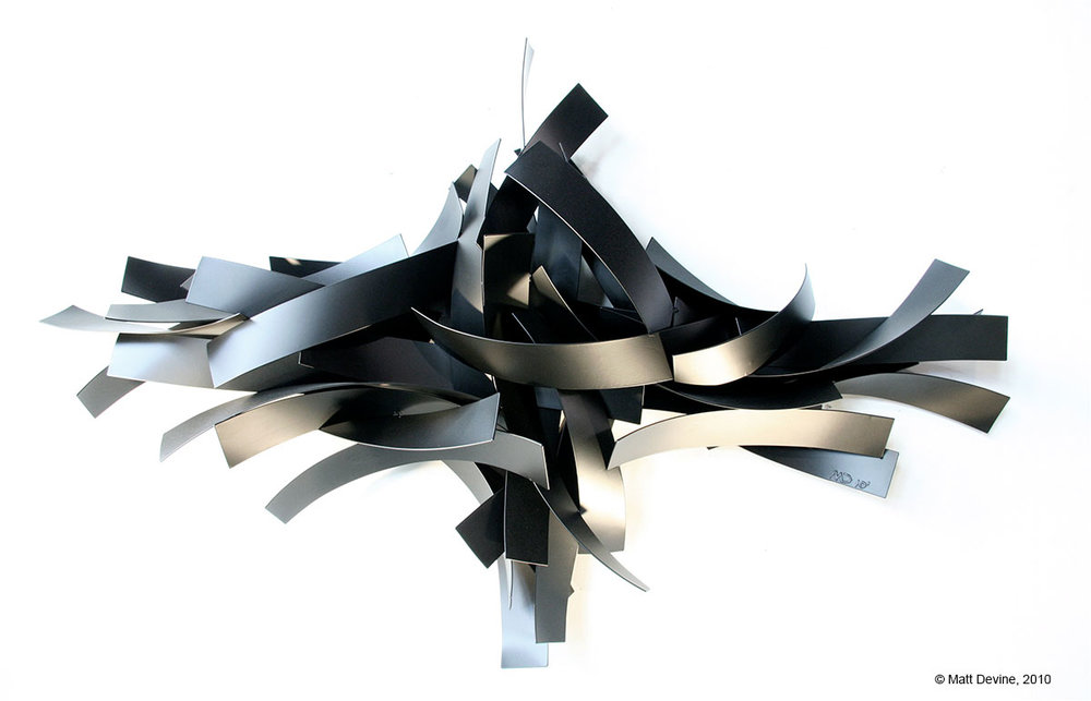 SADDLE #4, 2010, aluminum with powder coat, 38 x 63 x 9 in.
