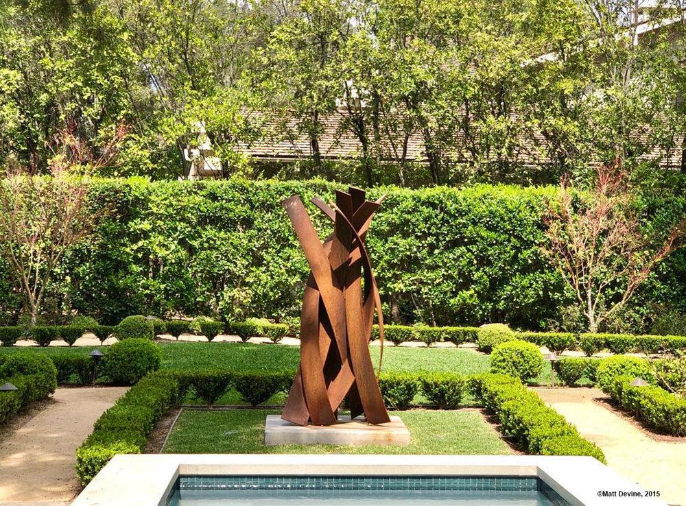 BRISAS #16, 2015, corten steel, 84H x 38W x 38D in, private residence, California