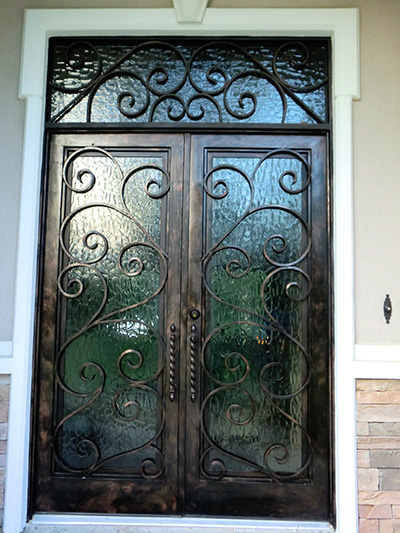 custom iron entry doors