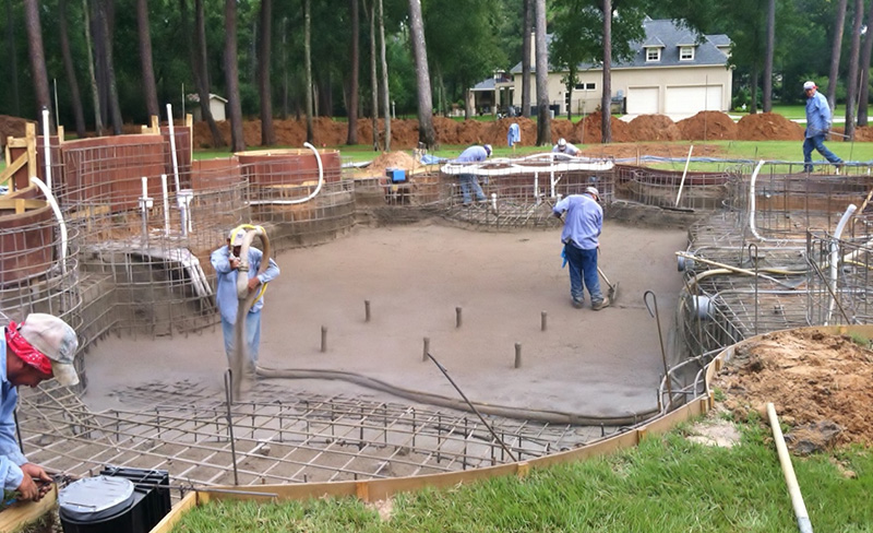 stages of building a custom pool pool construction process envy
