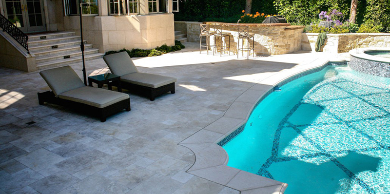 Travertine Is One Of The More Popular Materials For Building Luxury Pool  Decks. This Materialu0027s Reputation For Being Hard Wearing Yet Beautiful Has  Been ...