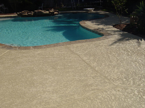 Cool Deck Travertine Best Pool Decking  The Woodlands Conroe Spring Magnolia Houston