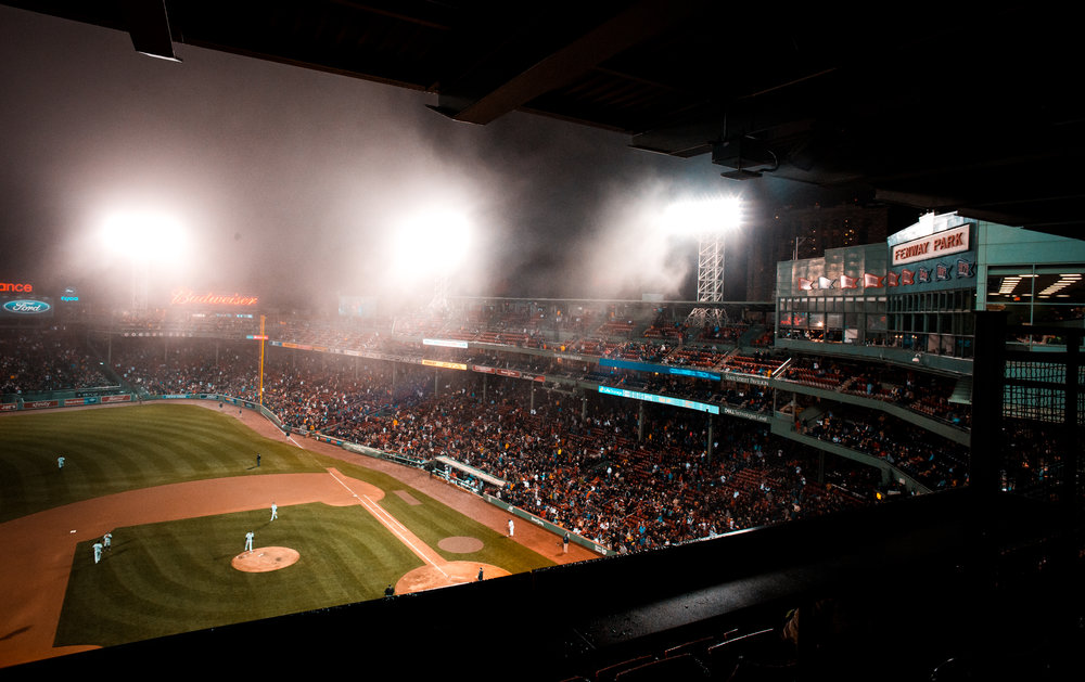 Fenway Park in the Fog