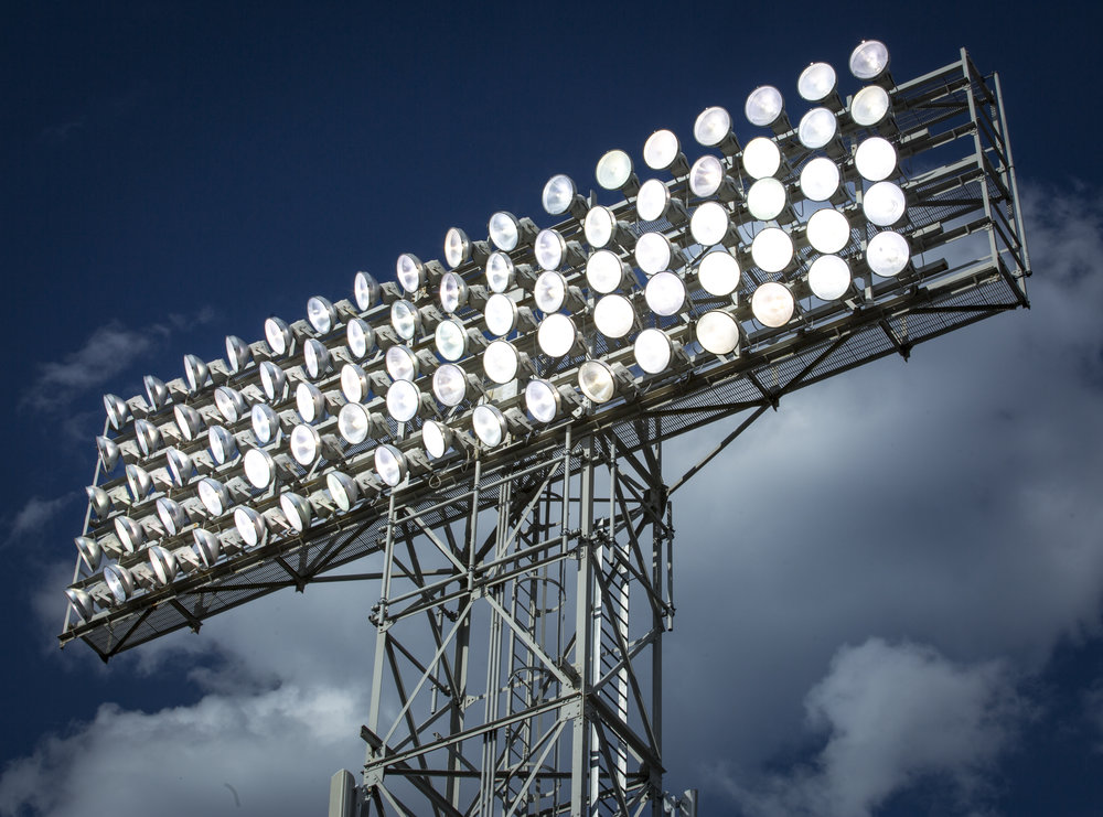Stadium Lights with Clouds