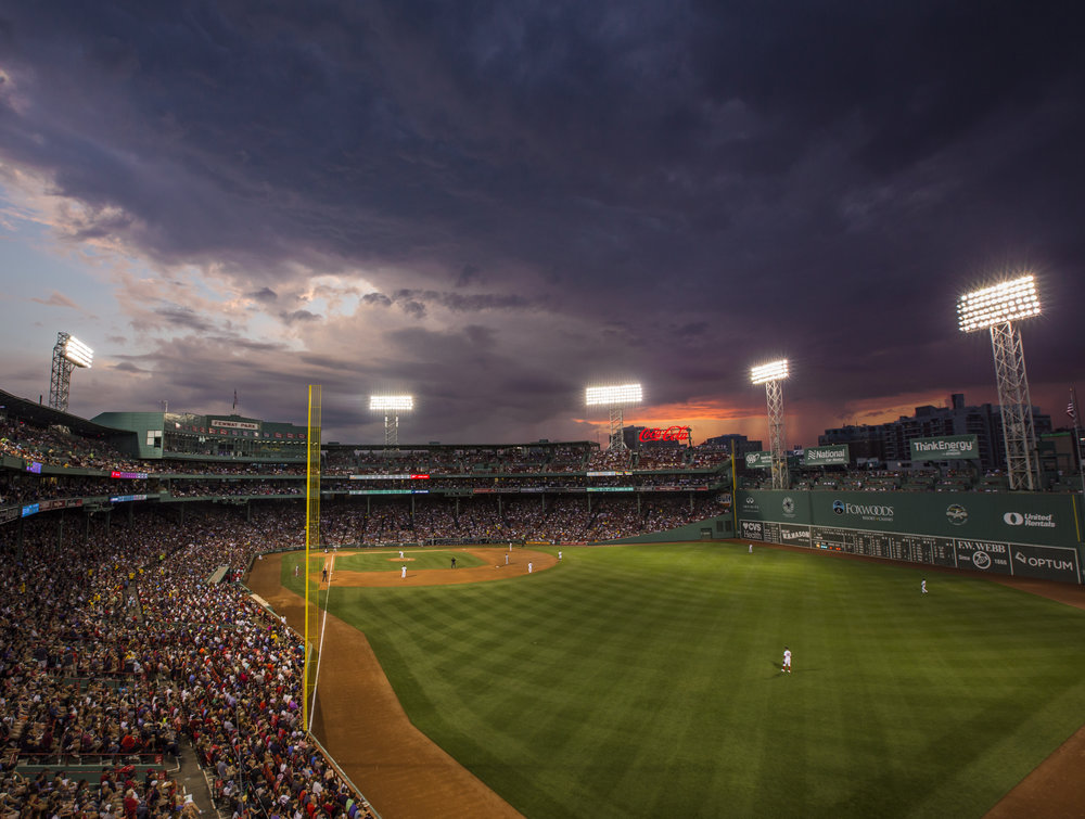 Sunset and Clouds over Fenway