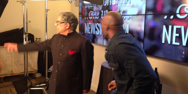 Keith presenting with Deepak Chopra