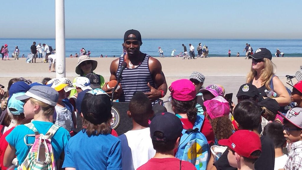 Keith speaking at Annual Kids Ocean Day Program