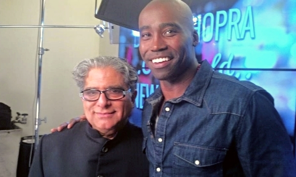 Keith with Deepak Chopra