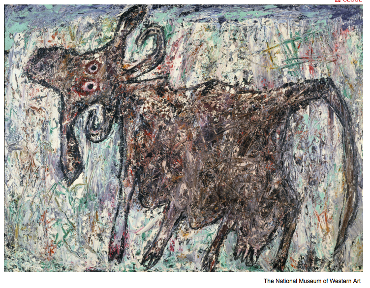 Jean Dubuffet   'Cow with a Beautiful Tail'   1954, Oil on Canvas