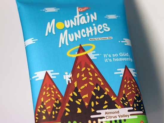 Gud's Mountain Munchies Packaging Design Branding, art direction, packaging, illustration, logo design