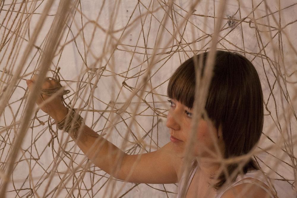 string twine sculpture web