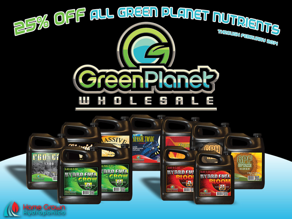 Green Planet Nutrients Promo