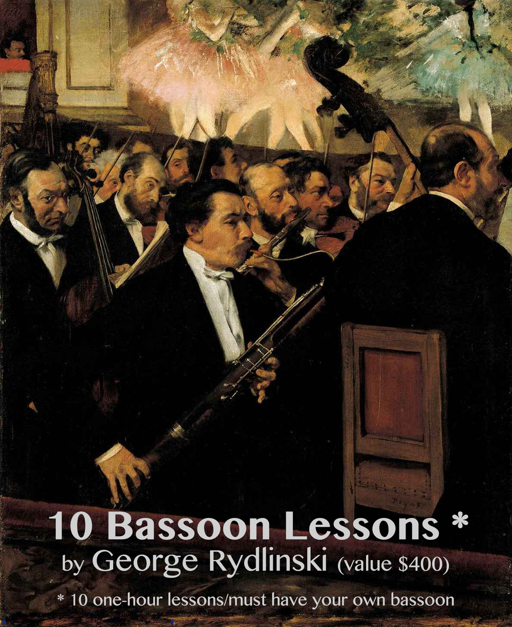 Certificate for ten Bassoon lessons.