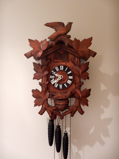 1950s German-made quail one day Cuckoo clock.
