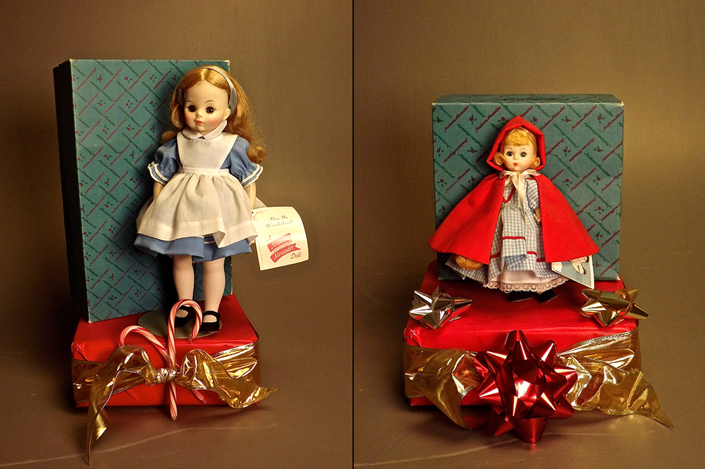 Vintage Madame Alexander dolls with original boxes.