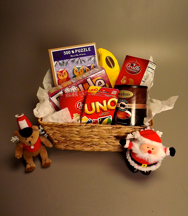 The Family Game Night Basket